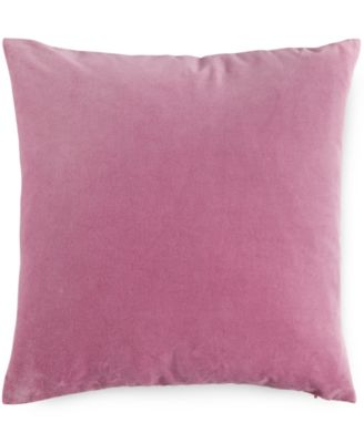"""bluebellgray Blush Velvet 16"""" Square Decorative Pillow"""