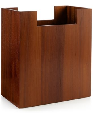 Hotel Collection Teak Wastebasket, Only at Macy's