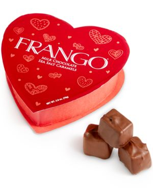 Frango Chocolates, Valentine's Day Mini Sea Salt Caramel Heart Box
