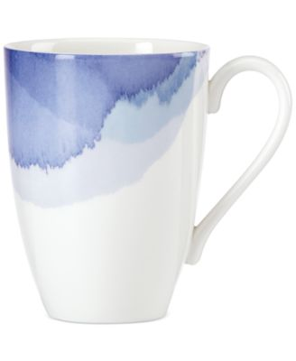 Lenox Indigo Watercolor Stripe Porcelain Mug, A Macy's Exclusive Style