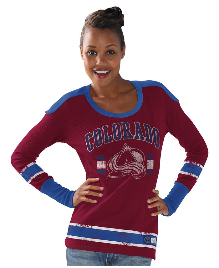 G-III Sports - Women's Long-Sleeve Colorado Avalanche PP Thermal T-Shirt