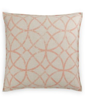 Hotel Collection Textured Lattice Linen European Sham, Only at Macy's