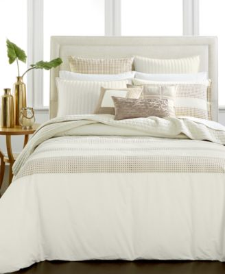 Hotel Collection Modern Eyelet Full/Queen Duvet Cover, Only at Macy's