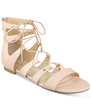 Ivanka Trump Callie Lace-Up Flat Sandals Women's Shoes