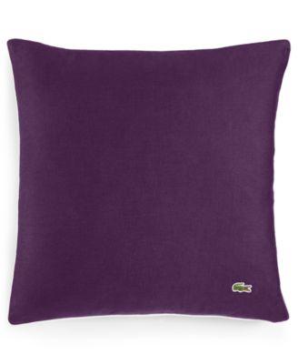 """Lacoste Home Miami Linen 18"""" Square Decorative Pillow"""