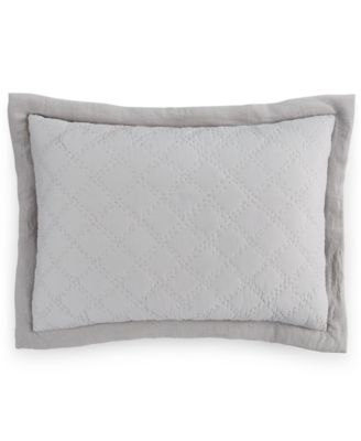 Hotel Collection Linen Turquoise Quilted Standard Sham, Only at Macy's