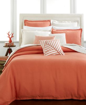 Hotel Collection Linen Poppy King Duvet Cover, Only at Macy's