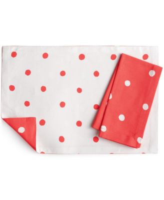 kate spade new york Charlotte Street Coral Table Linens Collection Napkin