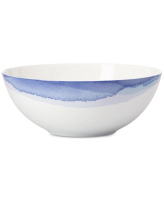 Lenox Indigo Watercolor Stripe Porcelain Serving Bowl, a Macy's Exclusive Style
