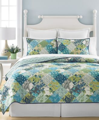 Martha Stewart Collection Antique Patchwork Artichoke Full/Queen Quilt, Only at Macy's