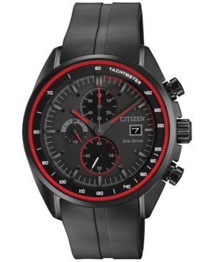 Citizen Mens Chronograph Eco-Drive Black Strap Watch 44mm CA0595-11F