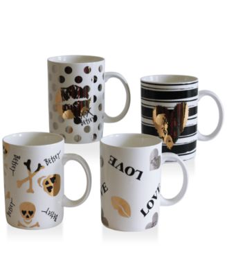 Betsey Johnson Set of 4 Mugs
