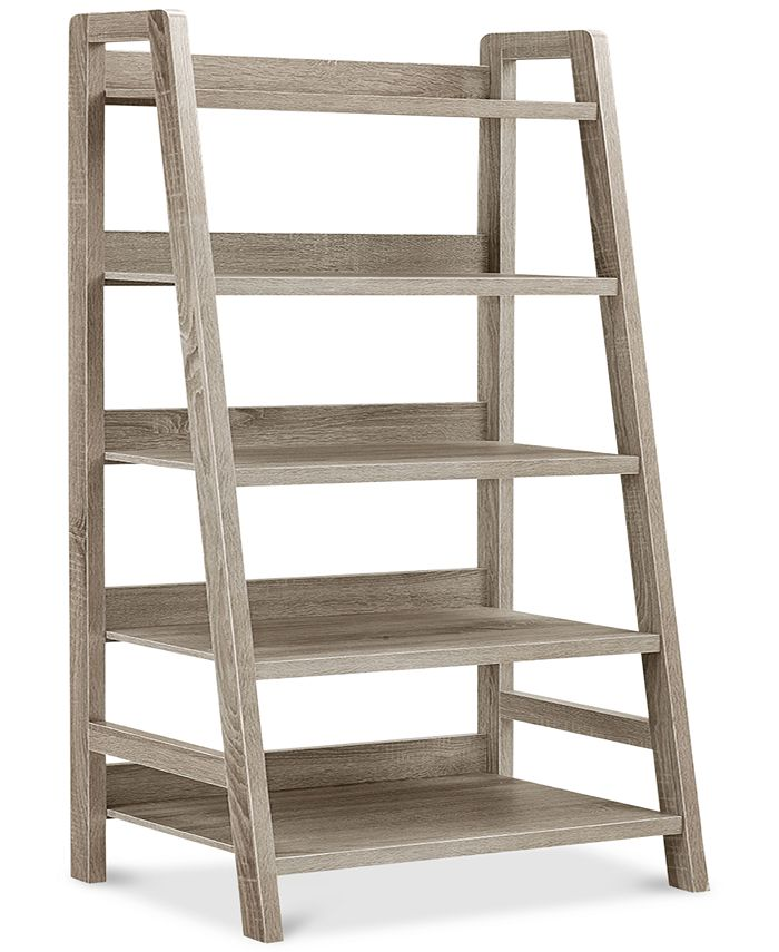 Powell Furniture - Linon Selena Ladder Bookcase, Direct Ship
