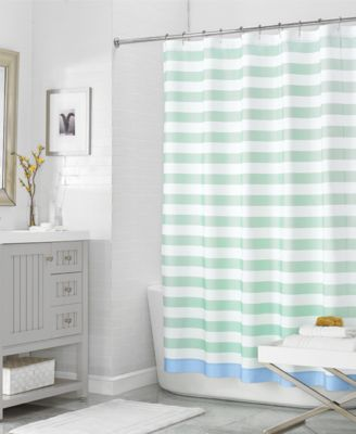 "Martha Stewart Collection 72"" x 72"" Beach House Stripe Shower Curtain, Only at Macy's"