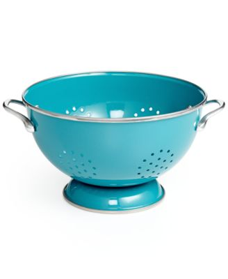 Martha Stewart Collection Enameled on Steel Colander, Only at Macy's