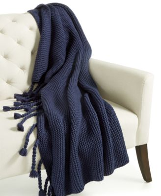 Home Design Studio Long Tassel Knit Throw, Only at Macy's
