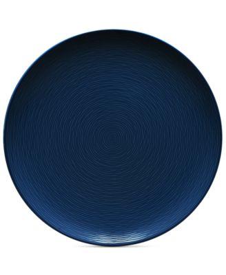 Noritake Navy-On-Navy Swirl Coupe Dinner Plate