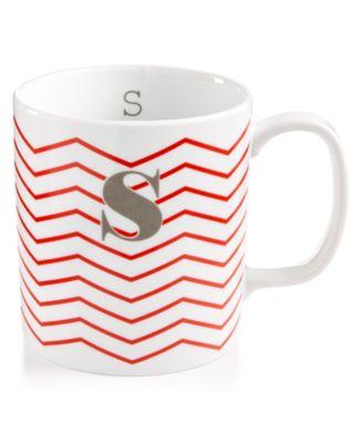 "The Cellar Chevron Initial Mug Collection ""S"" Mug, Only at Macy's"