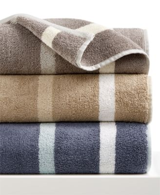 Hotel Collection Contrast Stripe Bath Towel, Only at Macy's