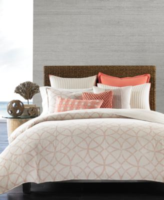 Hotel Collection Textured Lattice Linen King Duvet Cover, Only at Macy's