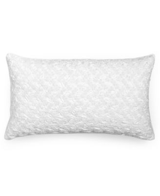 "Hotel Collection Finest Crescent Embroidered 14"" x 24"" Decorative Pillow, Only at Macy's"