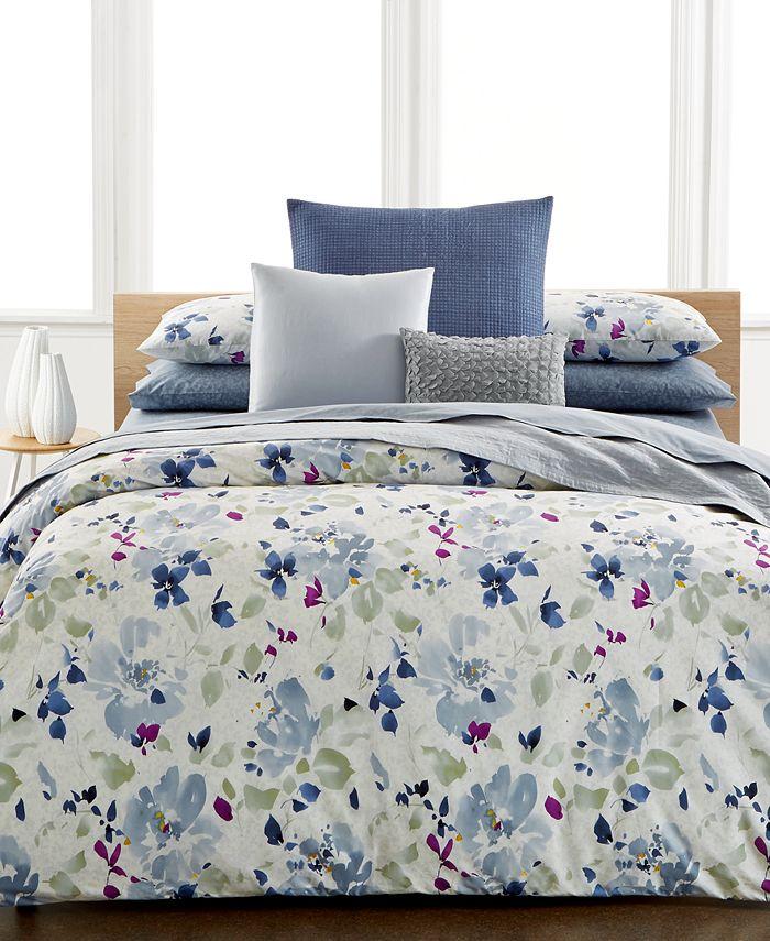 Calvin Klein - Watercolor Peonies King Comforter