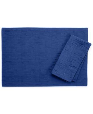 "Bardwil Continental Colelction 13"" X 18"" Navy Placemat"