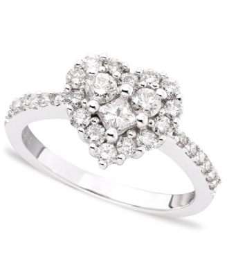 14k White Gold Diamond Heart Ring (9/10 ct. t.w.)