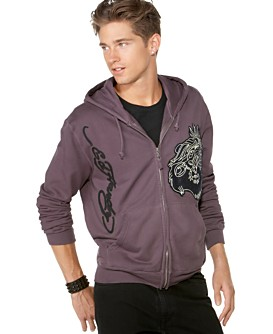 Macy*s - Gifts & Gift Cards - Ed Hardy UZI Leather Laser Cut Hoodie from macys.com