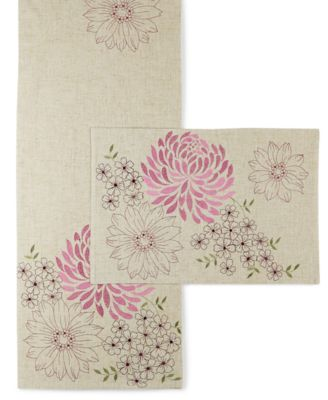 Homewear Spring Sketch Table Linens Collection Pink Placemat