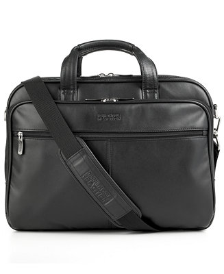 Kenneth Cole Reaction Manhattan Leather Double Gusset