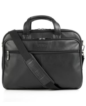 Kenneth Cole Reaction Laptop Bag, Leather Double-Gusset Zip-Top