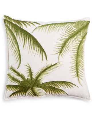 Home Design Studio Palm Embroidered Pillow, Only at Macy's