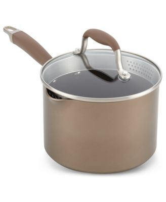 Anolon Advanced Bronze Hard Anodized 3-Qt. Saucepan with Lid