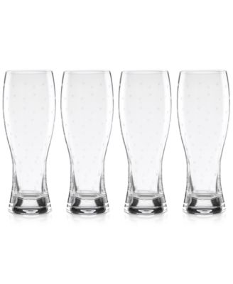 kate spade new york Larabee Dot Collection 4-Pc. Wheat Beer Glasses