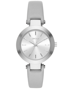 Dkny Women's Stanhope Gray Leather Strap Watch 28mm NY2456