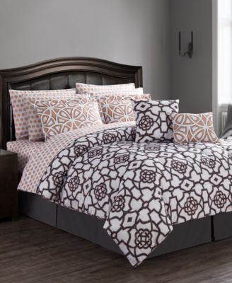 CLOSEOUT! Roman Reversible 12-Pc. Queen Comforter Set