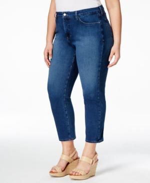 Nydj Plus Size Ira Slim-Leg Thorton Wash Ankle Jeans