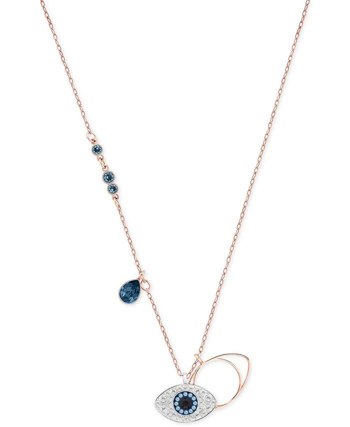 Swarovski - Rose Gold-Tone Crystal Evil-Eye Pendant Necklace