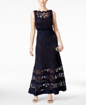 Tadashi Shoji Lace-Detail Dress $429.00 AT vintagedancer.com