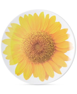 kate spade new york Patio Floral Collection Sunflower Accent Plate