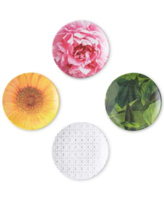 kate spade new york Patio Floral Collection 4-Pc. Tidbit Plates Set