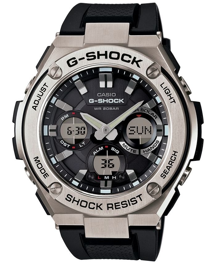 G-Shock - Men's Analog-Digital Black Strap Watch 59x52mm GSTS110-1A
