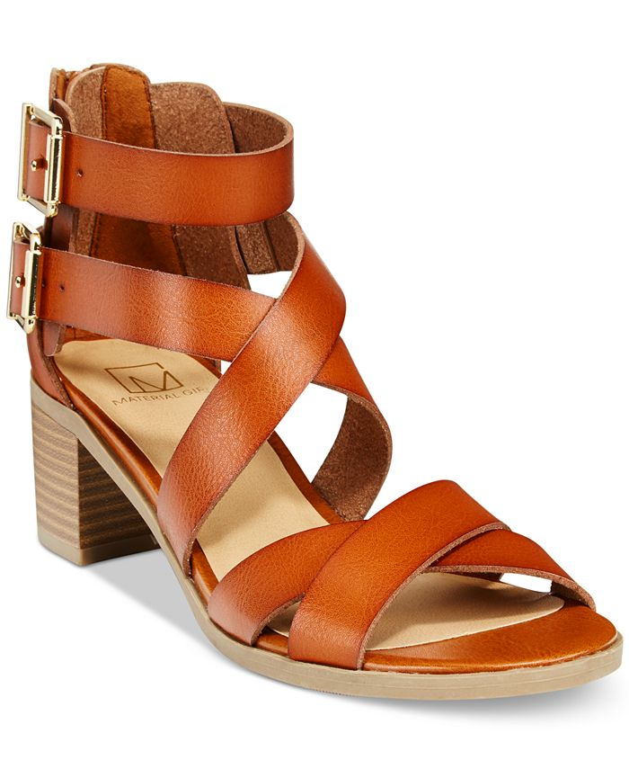 Material Girl - Danee Block Heel City Sandals