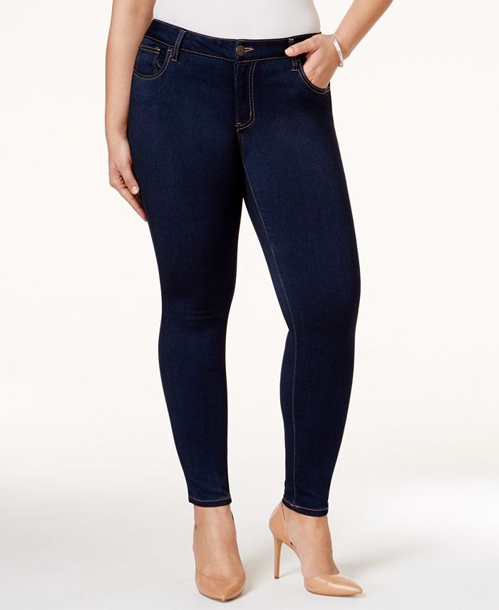 Celebrity Pink - Plus Size Outsiders Wash Super-Soft Skinny Jeans