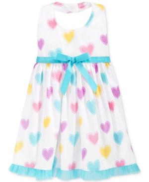 Blueberi Boulevard Baby Girls' Heart-Print Halter Dress