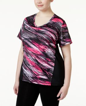 Ideology Plus Size Performance T-Shirt, Only at Macy's