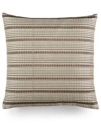 "Hotel Collection Modern Geo Stripe 18"" Square Decorative Pillow, Only at Macy's"