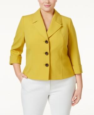 Tahari Asl Plus Size Three-Button Blazer plus size,  plus size fashion plus size appare