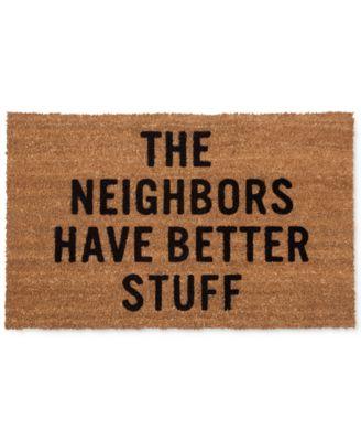 """Reed Wilson """"The Neighbors Have Better Stuff"""" Doormat"""